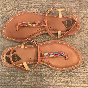 Reef Brown Leather Sandals